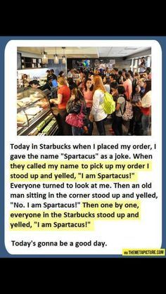 Starbucks --- this is Sparta