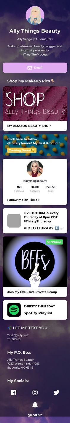 Ally Seago | St. Louis, MO  Makeup obsessed beauty blogger and internet personality #TrustTheProcess Amazon Beauty Products, Trust The Process, Beauty Shop, St Louis, Landing, Personality, Internet, Wellness, Makeup