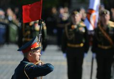 The red flag was a traditional revolutionary symbol long before 1917, and its incorporation into the soviet flag paid tribute to the international aspect of workers' revolution. Photograph: Anadolu Agency/Getty Images | Moscow's Victory Day parade in pictures