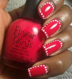 . #nailart #nails #fingernails Nail Designs 2014, Fingernail Designs, Simple Nail Art Designs, Nail Polish Designs, Easy Nail Art, Love Nails, How To Do Nails, Fun Nails, Pretty Nails