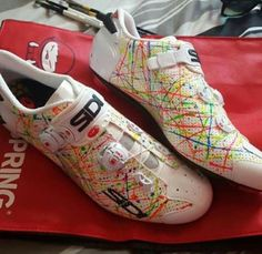 Some custom Sidi Cycling spotted over on @velokicks ・・・ Etixx-Quickstep hitter Guillaume van Keirsbulck dropped us a message to show us his new custom Sidi kicks. Super fresh and on show right now as he races the Tour of Wallone with EQS. Try and...