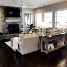 Cozy Living Rooms, Living Room Modern, Home Living Room, Living Room Layouts, Farmhouse Living Room Furniture, Beautiful Living Rooms, Family Room Layouts, Living Room Country, Living Room Ideas