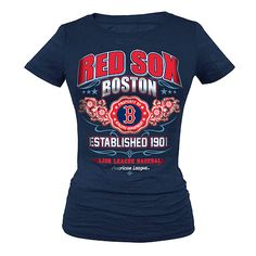 Boston Red Sox Women's Burnout Crew-Neck Tee  $24.99