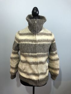 XS Icelanic Wool Zip Up Sweater   | eBay Zip Up Sweater, Zip Ups, Wool, Hoodies, Sweaters, Vintage, Ebay, Fashion, Sweatshirts