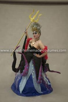 I want to make an Ursula costume to go with my daughter as Ariel. I like that the tentacles attached to her wrist so they moved.
