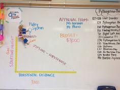 2 Pencils: Barbie Zipline for Pythagorean Theorem Teaching Geometry, Teaching Math, Teaching Tools, Math Resources, Math Activities, Geometry Activities, Algebra Projects, Stem Projects, Catholic Schools Week