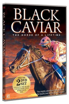"""Black Caviar """"The Horse Of A Lifetime"""" DVD set. Experience the triumph and celebrate the astonishing career of an Australian racing and sporting legend. Available from of October. Horse Movies, Horse Books, Royal Films, Sport Of Kings, Horse World, Racehorse, Dvd Set, Horse Racing, Caviar"""