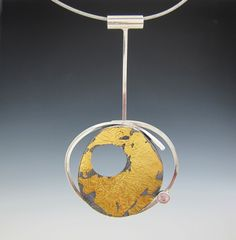 AIMEE DOMASH-USA:  Sterling, 24 karat gold (Keum-Boo), Sapphire