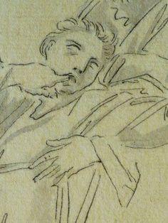 """DOMINIQUIN (d'Après) - St Nil guérit un Jeune Possédé avec l'Huile de la Lampe, Le Père et son Fils (drawing, dessin, disegno-Louvre INV9147) - Detail 04  -  TAGS /  details détail détails detalles """"dessins 17e"""" """"17th-century drawings"""" """"Italian paintings"""" """"peinture italienne"""" croquis étude Study studies sketch sketches Museum Paris France """"Domenico Zampieri"""" """"Le Dominiquin"""" """"saint Nil"""" kid kids child children  Bible man men hommes portrait portraits face """"little boy"""" garçon père father son…"""