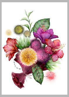 Victoria Nelson - Tropical Bouquet Copiar
