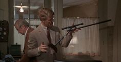 The assassin's stilt rifle - from the Day of the Jackal [1973] (712×368) #movies #film #guns #weapons