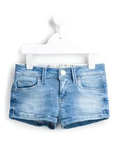 girl patch denim shorts