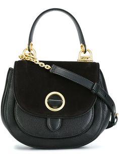 MICHAEL MICHAEL KORS flap closure small tote. #michaelmichaelkors #bags #shoulder bags #hand bags #leather #tote #