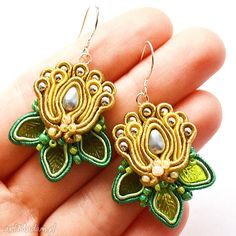 • unikatowe kolczyki, biżuteria - kolczyki lilie wodne sutasz