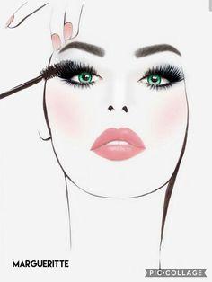 Beauty Salon Decor, Beauty Art, Fashion Illustration Face, Makeup Illustration, Makeup Artist Logo, Makeup Wallpapers, Fashion Wall Art, Girl Wallpaper, Art Sketchbook