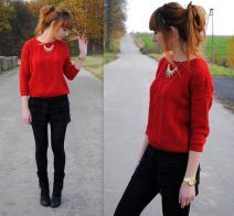 comfy red sweater