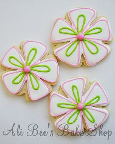 My Cookies for CQ Swap 2010 - Flowers by Ali Bee's Bake Shop, via Flickr