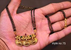 Stunning one gram gold long haaram with triple gold ball chains. Long haaram with matching earrings. Jewelry Design Earrings, Gold Earrings Designs, Gold Jewellery Design, Necklace Designs, Gold Wedding Jewelry, Gold Jewelry, Gold Necklace, Gold Bangles For Women, Black Gold Chain