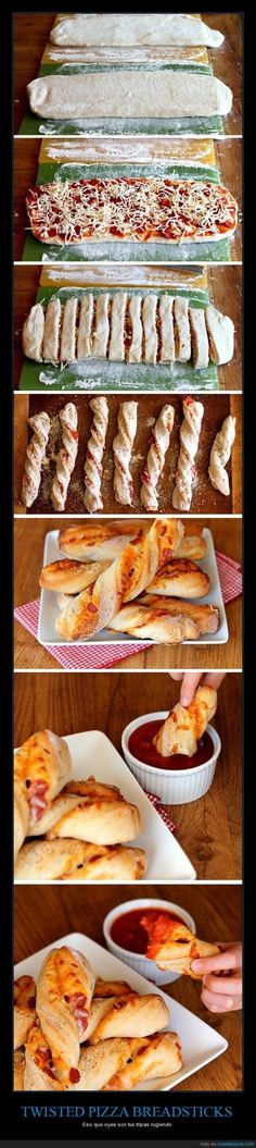 Funny pictures about Dippable Pizza Sticks. Oh, and cool pics about Dippable Pizza Sticks. Also, Dippable Pizza Sticks photos. Pizza Sticks, Snack Recipes, Cooking Recipes, Pizza Recipes, Recipes Dinner, Easy Recipes, Dip Recipes, Bread Recipes, Easy Meals