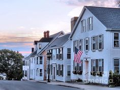 Looking east, this Image is of sunrise on Leyden Street in Plymouth, Massachusetts. Leyden Street is the first street where the Pilgrims built their houses in the Places To Travel, Places To See, Places Ive Been, Plymouth Massachusetts, New England Travel, Sea To Shining Sea, Beautiful Architecture, Pilgrim, Travel