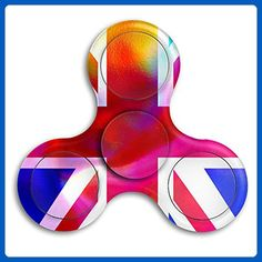 The Union Jack Premium Tri-Spinner Fidget Toy Stress Reducer Perfect For ADHD EDC ADD Anxiety Autism - Fidget spinner (*Amazon Partner-Link)
