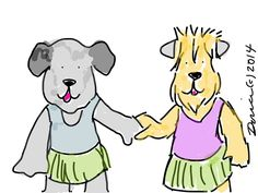 Artwork by Dorice Stancher, member of Bright & Beautiful Therapy Dogs, Inc. Love it!
