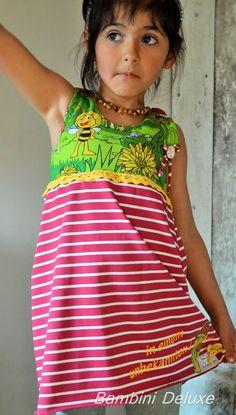 Kleider - ★ Kleid ★ Biene Maja ★ 104/110 ★ - ein Designerstück von Bambini-Deluxe bei DaWanda