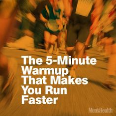Do this quick routine before any race so your body is at its peak to perform