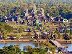 Description and history of Angkor Wat temple, one of the largest religious monuments ever constructed. Source: Angkor Wat: History of Ancient Temple Laos, Angkor Wat, Places To Travel, Places To Visit, Travel Destinations, Temple City, Temple Ruins, Strange Places, Cruises