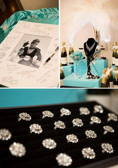 Tiffany & Co. Inspired 50th Birthday Party - Pretty My Party #tiffany #birthday #party
