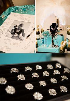 Tiffany & Co. Inspired 50th Birthday Party - Pretty My Party #tiffany #birthday #party