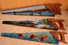 .painted saws