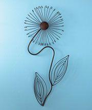 Metal Flower Wall Sculptures