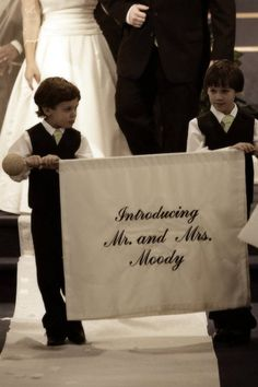 Custom Made Introducing Mr & Mrs Banner Sign for by Prettymodest, $38.00