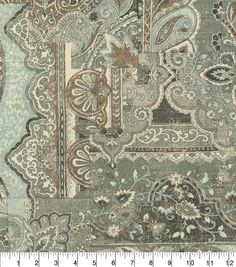 Home Decor 8\u0022x8\u0022 Fabric Swatch-Waverly Historic Piece Silver,
