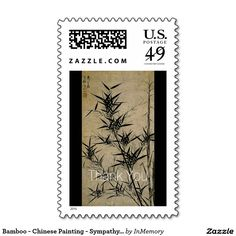 Bamboo - Chinese Painting - Sympathy Thank You Postage Stamps