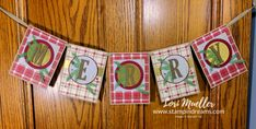 PPThingHop-YouYours-MerryBanner-Lori-DSC09101 How To Make Banners, Paper Pumpkin, Winter Cards, Xmas Cards, Stampin Up, Pumpkin Ideas, Christmas Crafts, About Me Blog, Paper Crafts