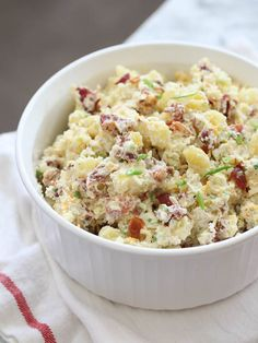 This loaded baked potato salad is the perfect family-style side dish.