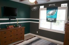 PHI Eagles Theme,   NFL Team colors from Lowe's and Fathead stickers.