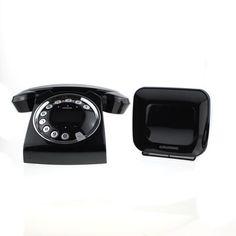 Grundig SIXTY Schnurlos-Telefon mit integriertem Anrufbeantworter Retro-Design in Handys & Kommunikation, Festnetztelefone & Zubehör, Schnurlostelefone | eBay