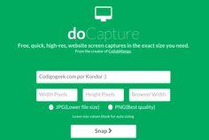 Docapture, toma fotos de sitios web fácilmente