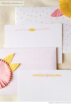 Free Printable Stationery Set from Thats Happy | Creature ComfortsCreature Comforts