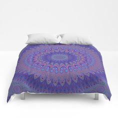 Purple Mandala Comforter by David Zydd #art #gift #bedroomdecor #giftideas
