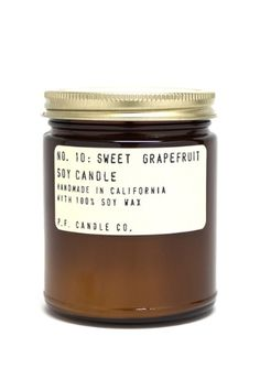 Sweet Grapefruit Soy Candle back in stock! www.mooreaseal.com
