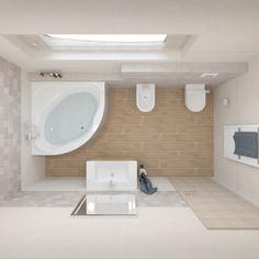 Obklady Integrally #koupelnygres #3ddesign #bathroomdesign #bathroomvisualization #tubadzin #integrally 3d Design, Alcove, Bathtub, Bathroom, Standing Bath, Washroom, Bathtubs, Bath Tube, Full Bath