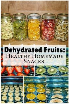 Dehydrated fruits are great, healthy homemade snacks for the entire family. They… Dehydrated fruits are great, healthy homemade snacks for the entire family. They are not only nutritious but also help you save a lot of money. Dehydrated Vegetables, Dehydrated Food Recipes, Veggies, Healthy Homemade Snacks, Diy Snacks, Healthy Lunches, Crudite, Dehydrator Recipes, Healthy Fruits