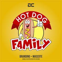Criação de Logo e Mascote, Hot Dog Family