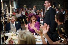 Wedding speeches at Ballymagarvey Village ---- Photographs by Dylan McBurney