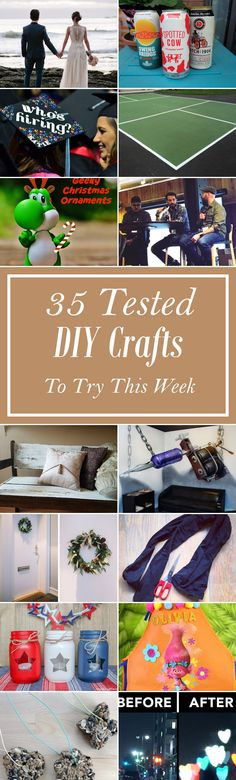 35 Tested DIY Crafts To Try This Week Easy Diy Crafts, Diy Crafts For Kids, Dollar Store Crafts, Dollar Stores, Diy Bar, Diy Desk, Cow, Crafty, Christmas Ornaments