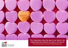 Lots of nonprofits find creative ways to use Valentine's Day to bring attention to their causes.